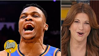 Rachel Nichols pays tribute to Russell Westbrook before his return to OKC | The Jump