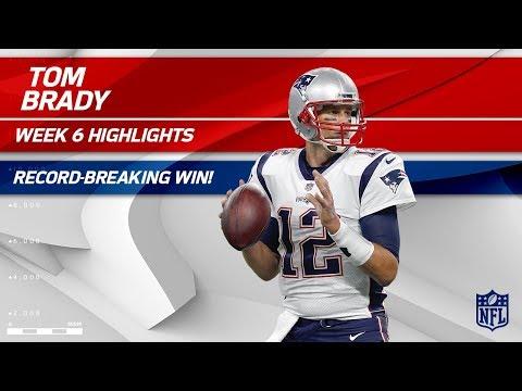 Tom Brady Breaks Record for All-Time Regular Season Wins!   Pats vs. Jets   Wk 6 Player Highlights