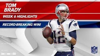 Tom Brady Breaks Record for All-Time Regular Season Wins! | Pats vs. Jets | Wk 6 Player Highlights