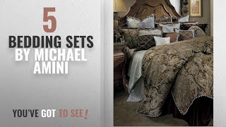 Top 10 Michael Amini Bedding Sets [2018]: Michael Amini Portofino 13 Piece Comforter, King, Brown