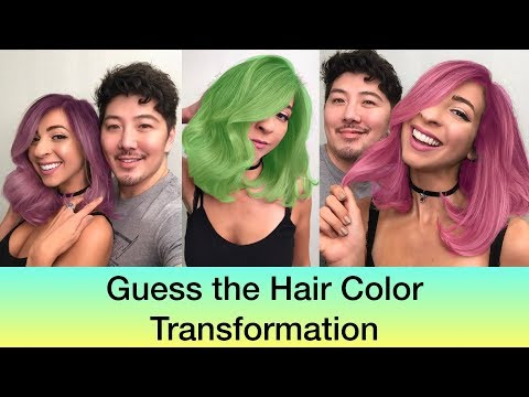 Guess the Hair Color Transformation