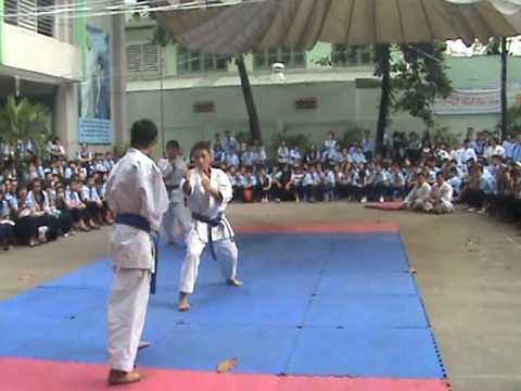 Tr NGUYEN VAN TO Q10_Mon hoc tu chon:Vo thuat(Karate do).Thuc hien clip:Thay Tran Cong Khanh