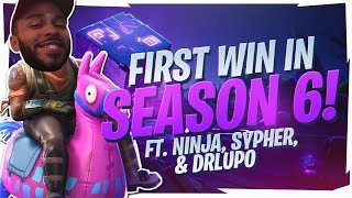 BEST SKIN IN THE GAME?! SEASON 6 WIN Ft. Ninja, SypherPK & DrLupo (Fortnite BR Full Game)