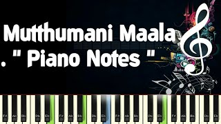 Mutthumani Maala (chinna gounder) Ilayaraja, Piano Notes, Midi File & Karaoke