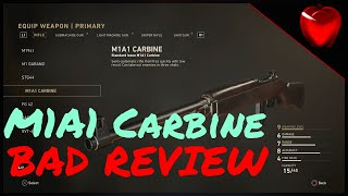 Bad Review: M1A1 Carbine  - Call of Duty WW2 Bad Review on the M1A1 Carbine   It