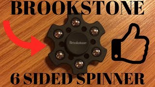Brookstone Six Sided Fidget Spinner Metal Plastic Unboxing Review