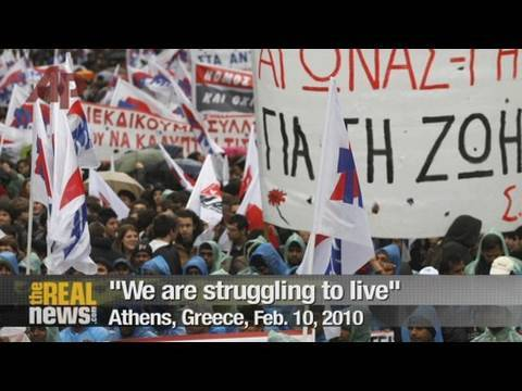 Greek people resist paying for crisis