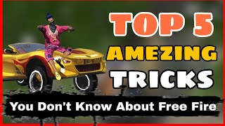 Free Fire || Top 5 Amezing Tips and Tricks Free Fire || you Don't Know About Free Fire -4G Gamers