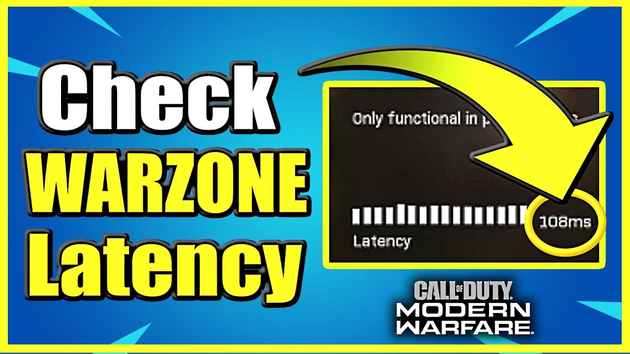 How To Check Latency Ping In Call Of Duty Warzone Easy Method Youtube