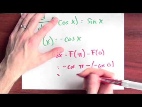 What is the integral of sin x dx from x = 0 to x = pi? - Week 12 - Lecture 3 - Mooculus
