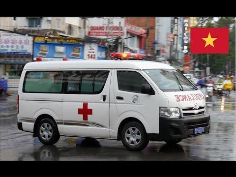 Ho Chi Minh City (Vietnam) Ambulance Responding With Lights