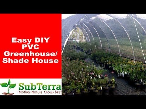 Easy DIY Hoop PVC Greenhouse or Shadehouse