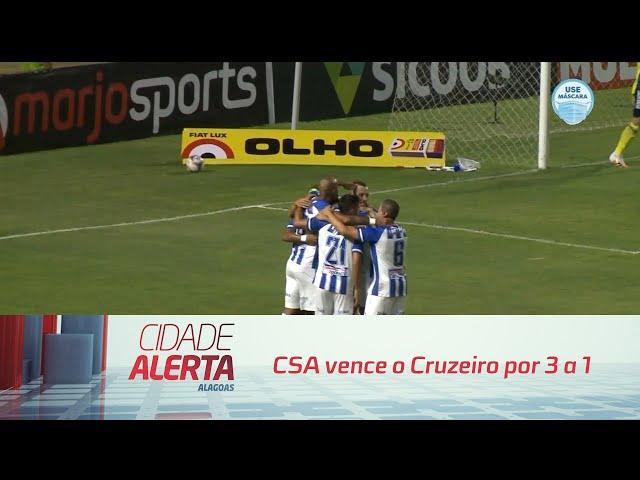 Futebol: CSA vence o Cruzeiro por 3 a 1