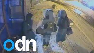 Full CCTV video appears to show missing British schoolgirls