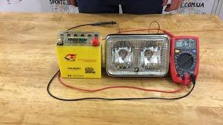 Обзор и проверка аккумулятора 5Аh для скутеров гелевый с индикатором!