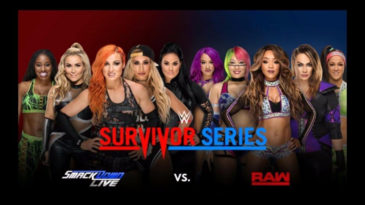 Women's 5-on-5 Survivor Series Elimination Match - WWE : Survivor Series Highlights