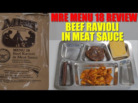2019 MRE Menu 18 – Beef Ravioli