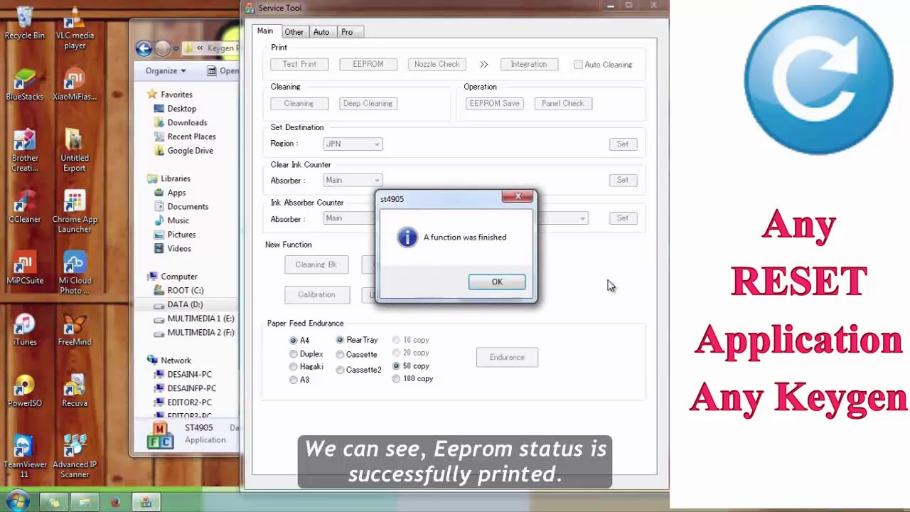 How To Solves Error 5b00 On Printer Canon G1000 Ip2770 Mp258 Head Ix6560 Mg6170 Unlimited Reset