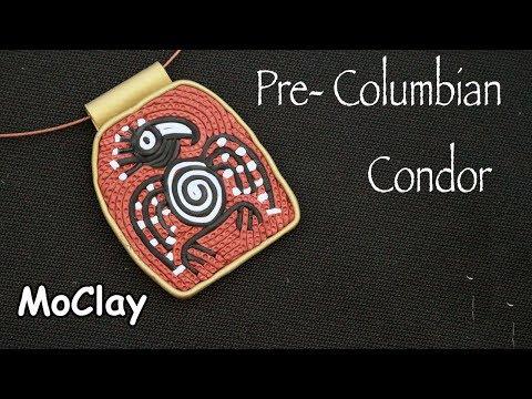 Diy  Pendant Pre- columbian Jewelry - Polymer clay tutorial