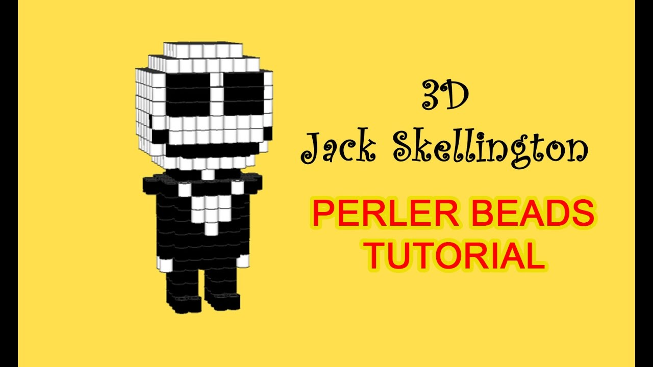Nightmare Before Christmas Jack Skellington 3D Hama Beads Perler ...