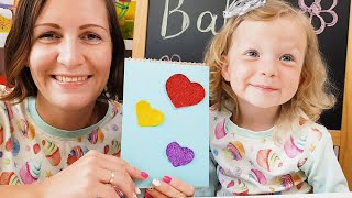 DIY How To Make Glitter Notebook - Simple Crafts for Kids