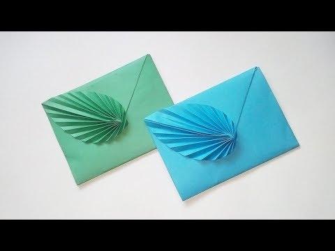 Easy Origami Envelope Tutorial - DIY Paper Envelope With Leaf