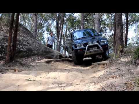 Mitsubishi Triton GLX 4WDing at Glasshouse Mountains