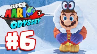 Super Mario Odyssey | Walkthrough Part 6 | SNOW & SEASIDE KINGDOM (Super Mario Odyssey Switch)