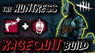 One of HybridPanda's most viewed videos: The Huntress OP RAGEQUIT Build! - Dead by Daylight with HybridPanda [New DLC]