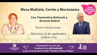 Mesa Malitzin, Cortés y Moctezuma
