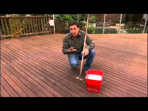 how to prepare a deck for oiling