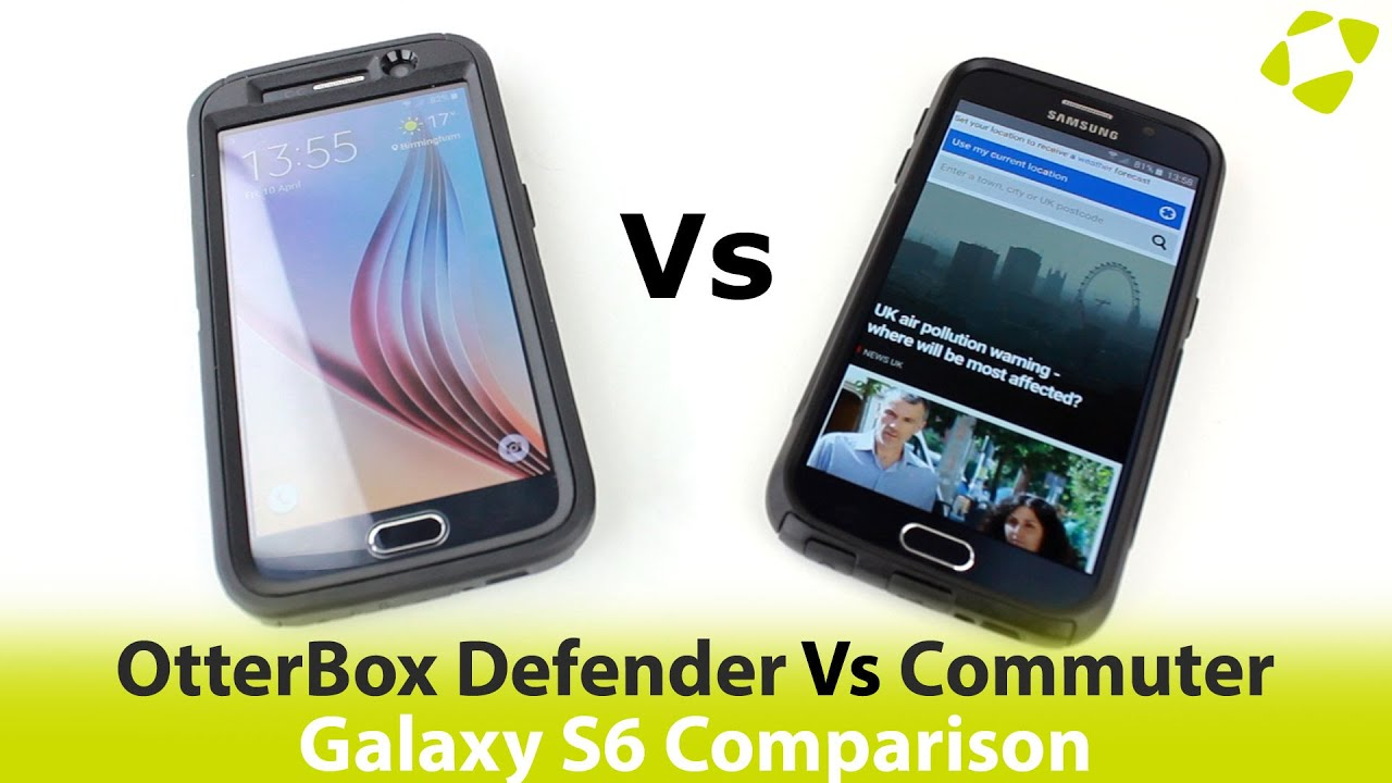 Otterbox Defender Vs Commuter >> Otterbox Defender Vs Commuter Series Samsung Galaxy S6 Case Review