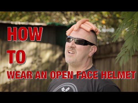 How to wear an open face helmet - BIKE ME!