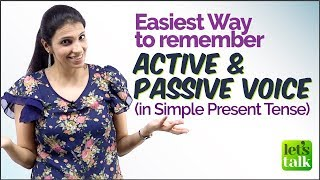 Easy Trick - Active and Passive Voice in English Grammar (Simple Present Tense) - Grammar Rules