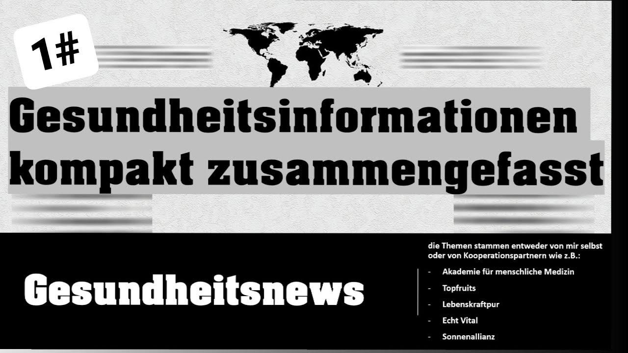 Download Gesundheitsnachrichten 1# - Themen: Sulphoraphan / Grüntee / Krebs