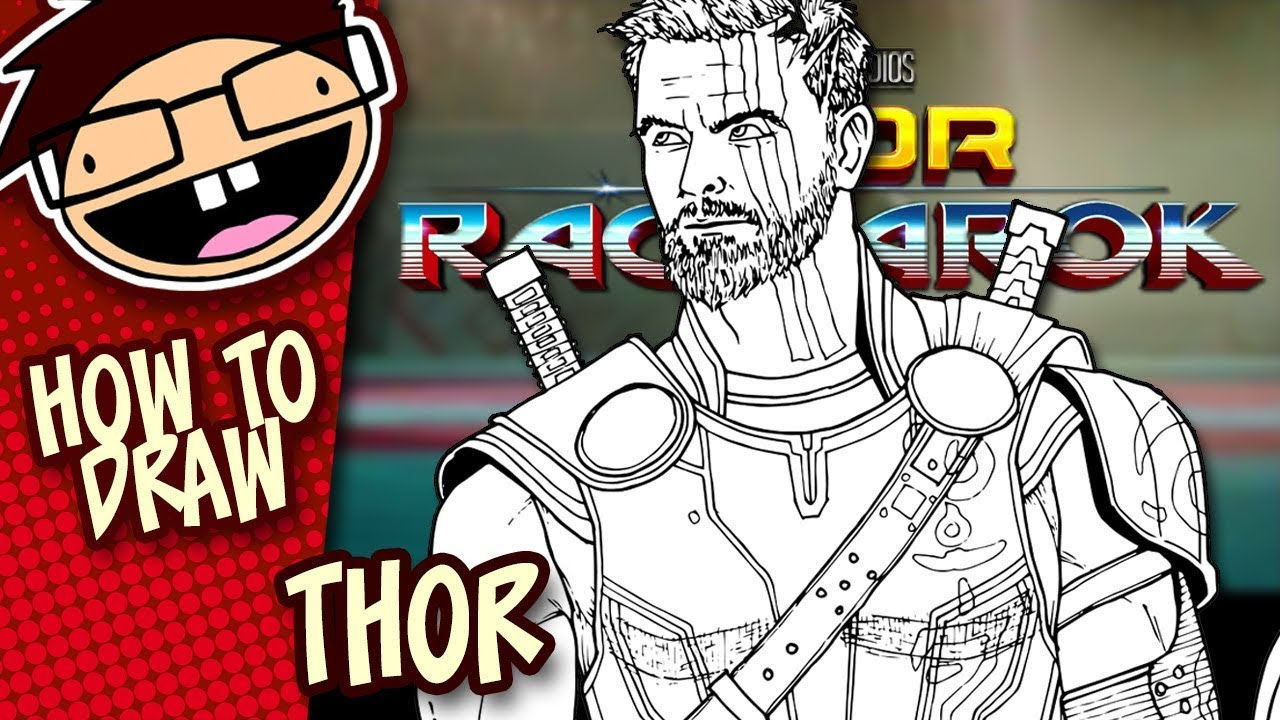 How to draw thor thor ragnarok narrated easy step by step tutorial