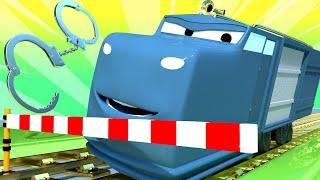 Поезд Трой -  Полицейский поезд разгадывает тайну вечеринки Лорда Байрона - детский мультфильм