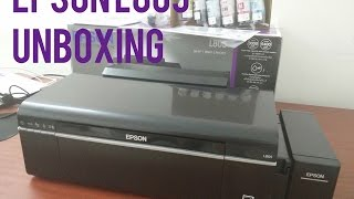 Epson L805 Wireless (WiFi) Photo, CD, DVD and ID Card Printer - Unboxing