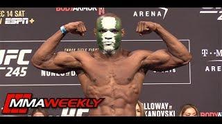 UFC 245 Ceremonial Weigh-Ins: Kamaru Usman vs Colby Covington  (FULL)