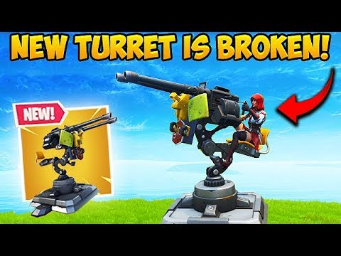 THE MOUNTED TURRET IS CRAZY OP! - Fortnite Funny Fails and WTF Moments! #382