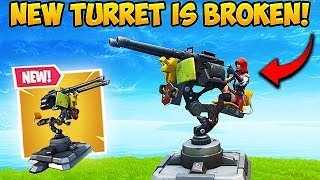 *NEW* MOUNTED TURRET IS CRAZY OP! - Fortnite Funny Fails and WTF Moments! #382