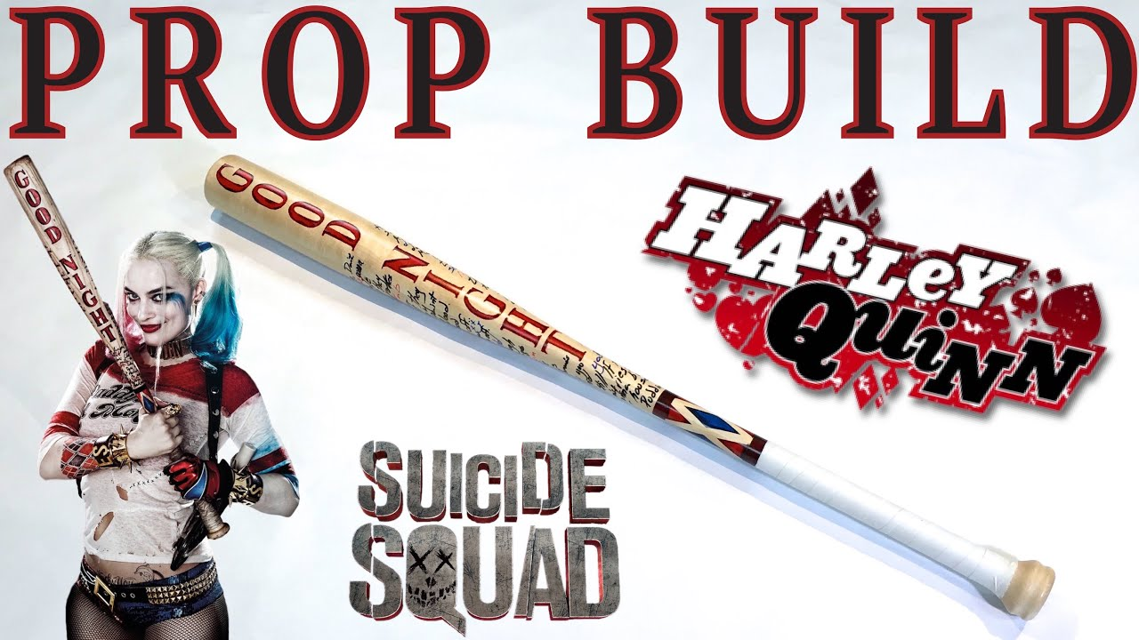 how to make the harley quinn bat from squad x woodwork