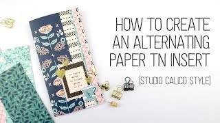 Gambar cover How to make an alternating pattern paper insert **NO LONG ARM STAPLER NEEDED!