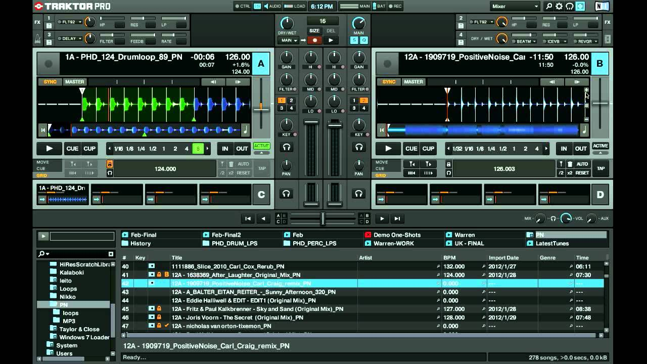 traktor pro 2 key detection