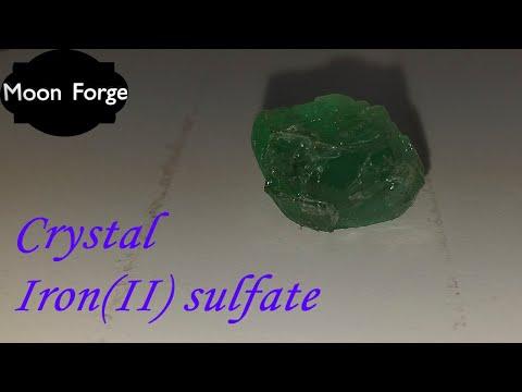 Как вырастить кристалл железного купороса