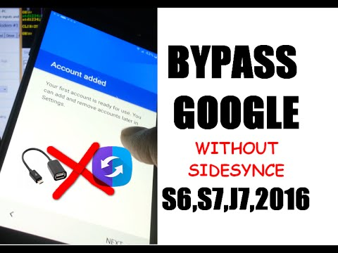 [Final Frp Solution] Bypass Google Account Samsung S6, S7, EDGE, J7 2016  android 6 0 1