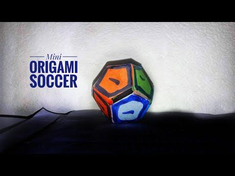 paper soccer ball mini- how to make paper soccer ball|Origami soccer|Stop Motion Lover