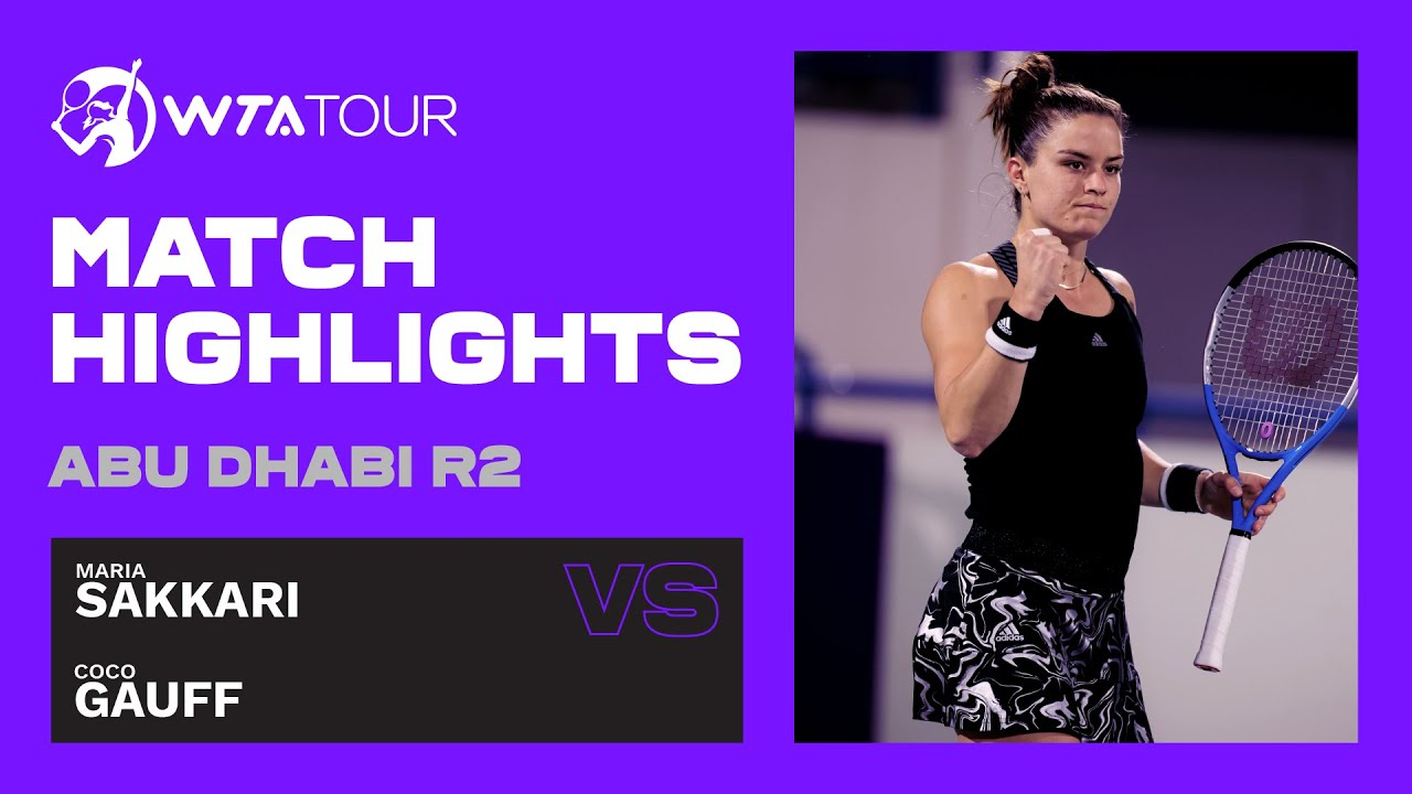 Maria Sakkari vs. Coco Gauff | 2021 Abu Dhabi Second Round | WTA Highlights