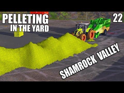 OPENING BALES TO MAKE PELLETS  Shamrock Valley  Farming Simulator 17  #22