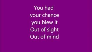 Repeat youtube video Kelly Clarkson - Since U Been Gone Lyrics